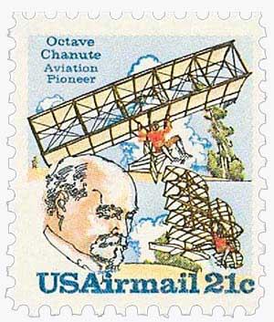 1979 21c Octave Chanute & Planes