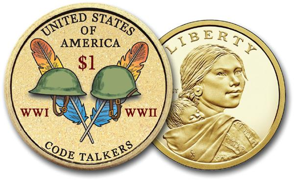 Native American 'Code Talkers',  2016 US Sacagawea Dollar