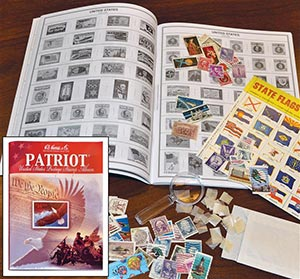 Harris Patriot US Stamp Collecting Kit