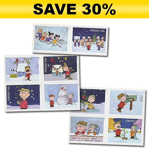 Imperforate Stamp Club Introductory Offer - 2015 49c A Charlie Brown Christmas