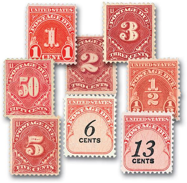 US Postage Due Stamps Introductory Offer