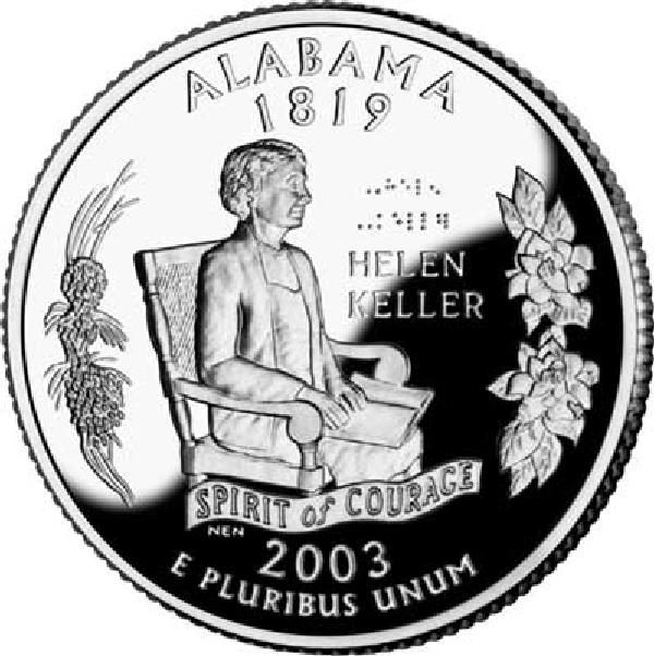 2003 Alabama State Quarter, P Mint