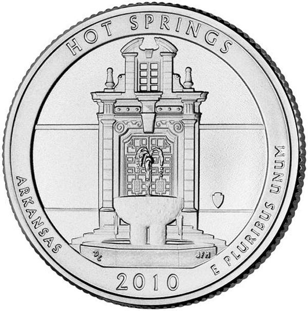 2010 Hot Springs National Park Quarter, P Mint