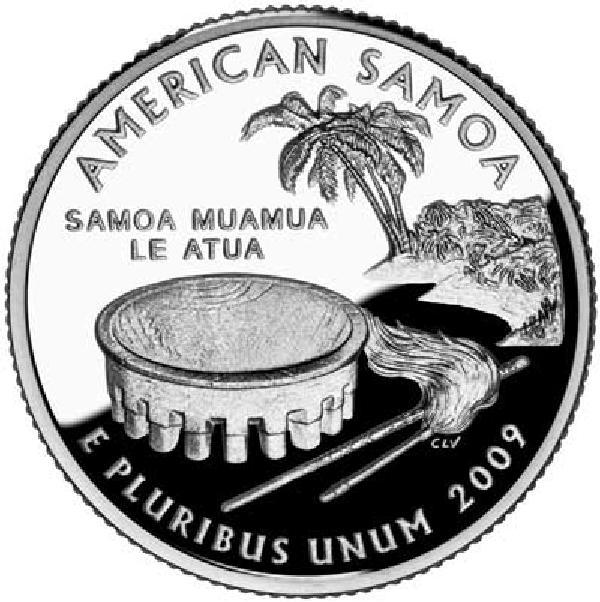 2009 American Samoa Quarter P Mint