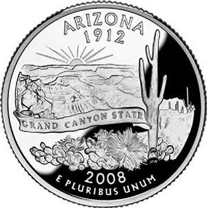 2008 Arizona State Quarter, P Mint