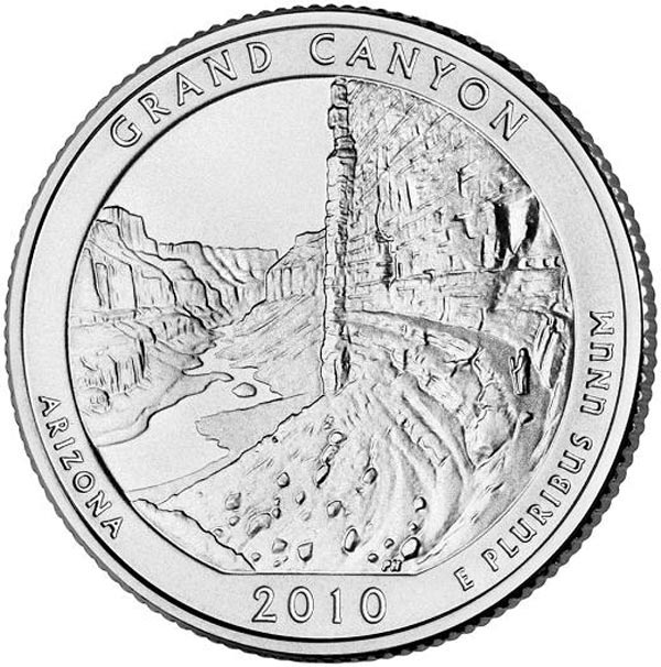 2010 Grand Canyon National Park Quarter, D mint