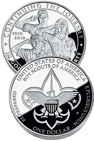 2010 $1.00 Boy Scout Proof Coin