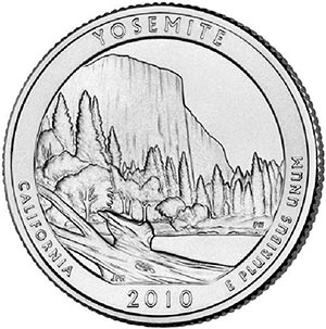 2010 Yosemite National Park, P Mint Quarter