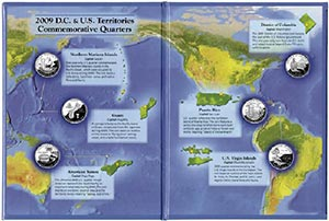 DC & US Territories Folder & 6 Quarters