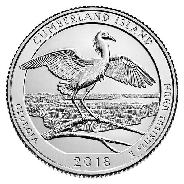 2018 Cumberland Island National Seashore, P Mint Quarter