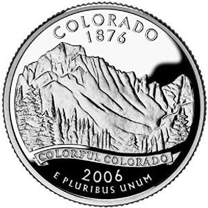 2006 Colorado State Quarter, P Mint