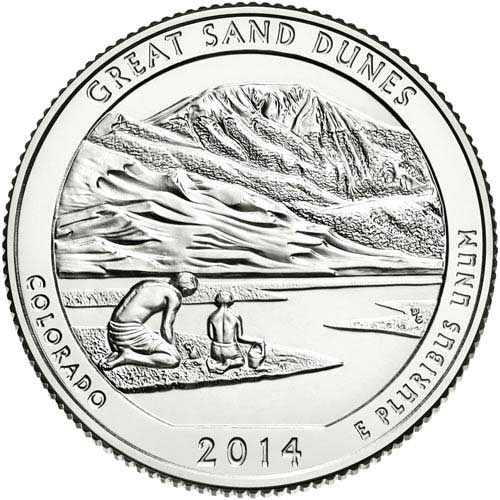 2014 Great Sand Dunes National Park P Mint Quarter