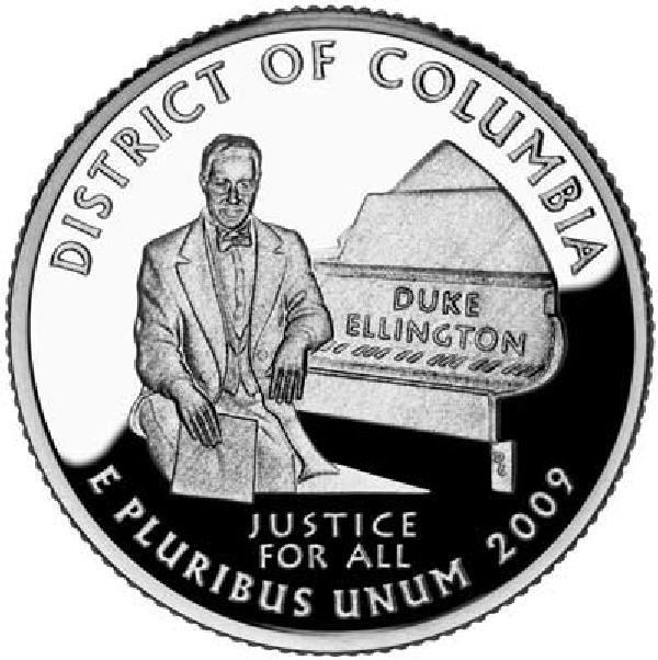 2009 District of Columbia Quarter D Mint