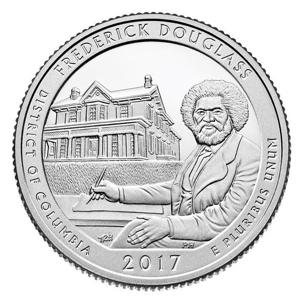 2017 Federick Douglas National Historic Site, P mint Quarter