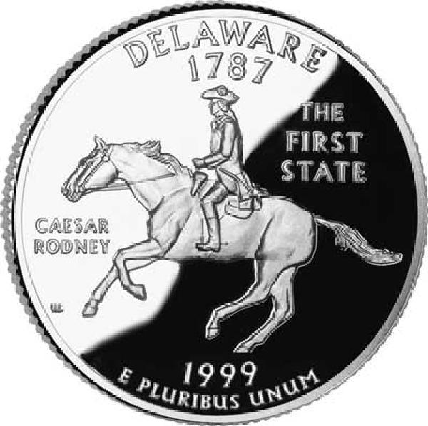 1999 Delaware State Quarter, P Mint
