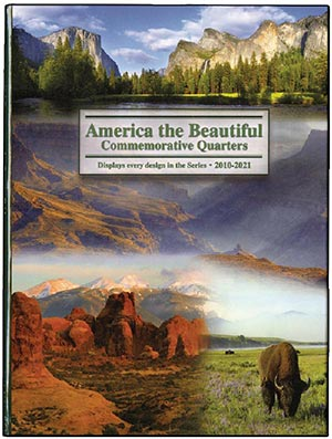2010-21 American National Parks Quarter Folder 7 1/2 x 10 with spaces for 56 designs