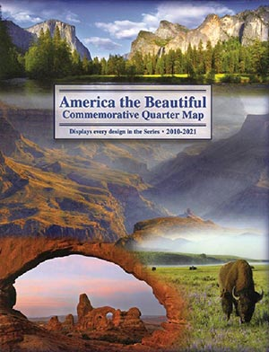 2010-21 American National Parks Quarter Map Folder