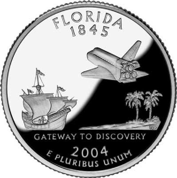 2004 Florida State Quarter, D Mint