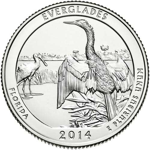 2014 Everglades National Park P Mint Quarter