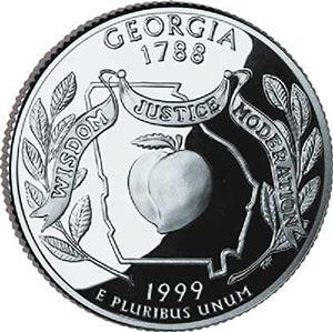 1999 Georgia State Quarter, D Mint