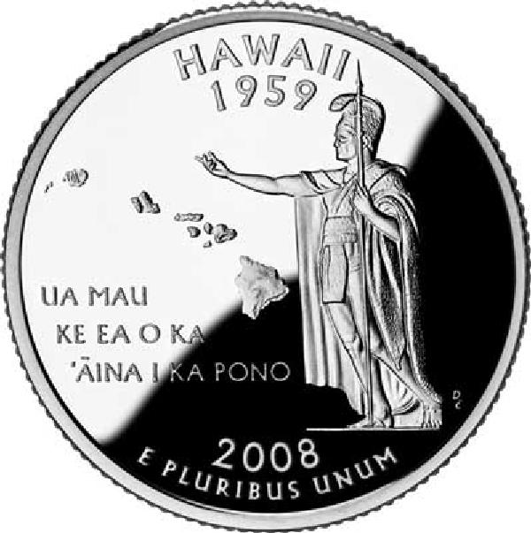 2008 Hawaii State Quarter, D Mint