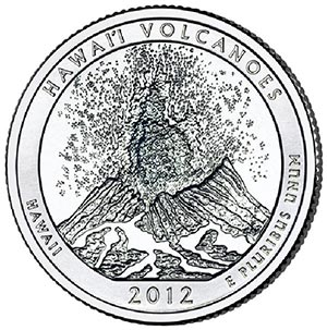 2012 Hawaii Volcanoes National Park P Mint Quarter