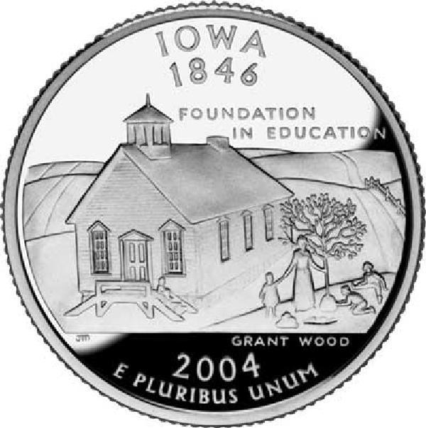 2004 Iowa State Quarter, D Mint