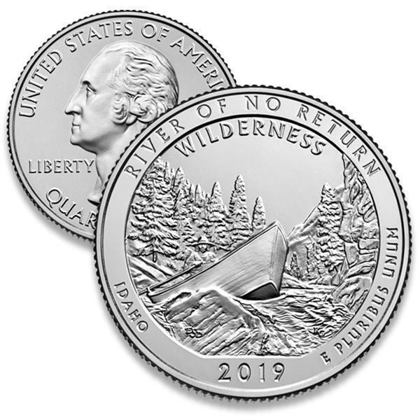 2019 Frank Church River of No Return D Mint Quarter