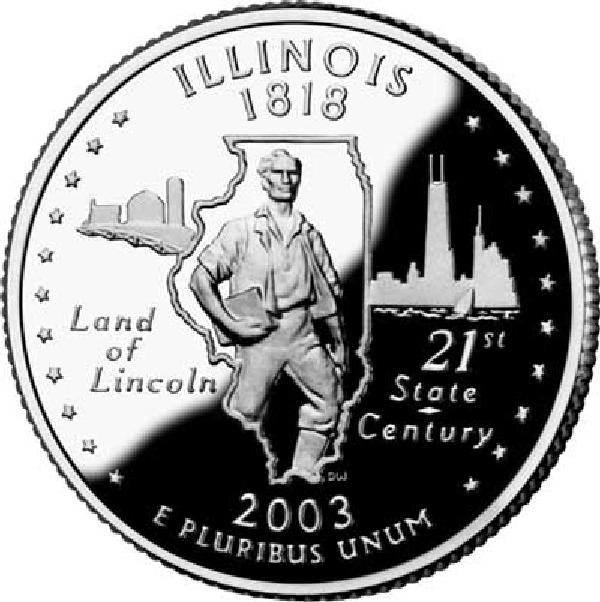2003 Illinois State Quarter, P Mint