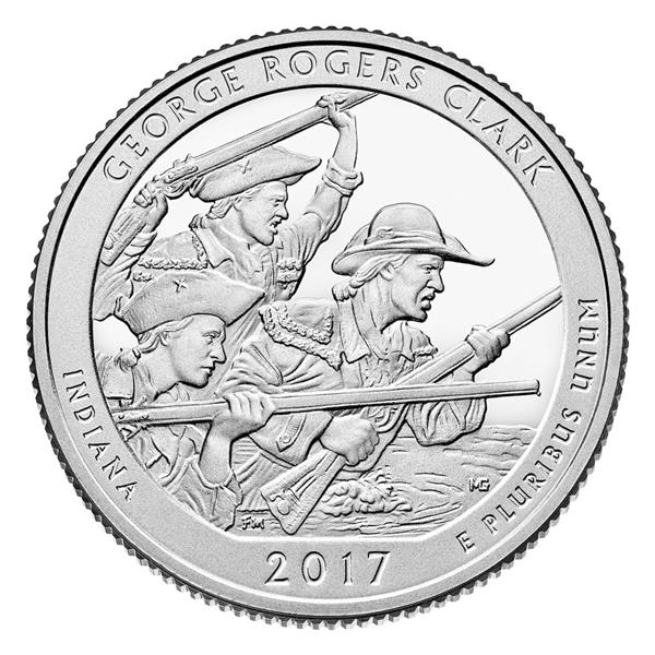 2017 George Rogergs Clark National Park, P Mint Quarter