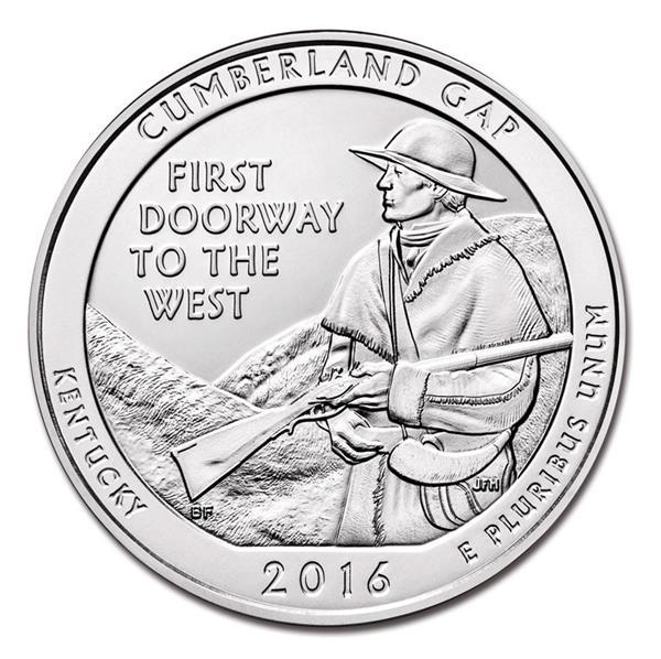2016 Cumberland Gap Natlional Forest D Mint Quarter
