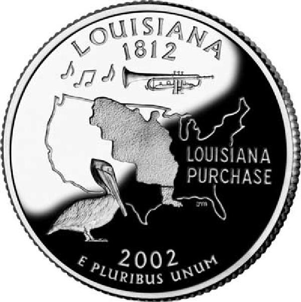 2002 Louisiana State Quarter, P Mint