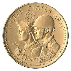 "US Army Bicentennial 3"" Bronze Medal"