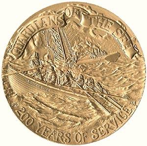 US Coast Guard Bicent. 3' Bronze Medal