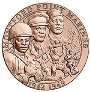World War II Montford Point Marines, 1.5' Bronze Medal