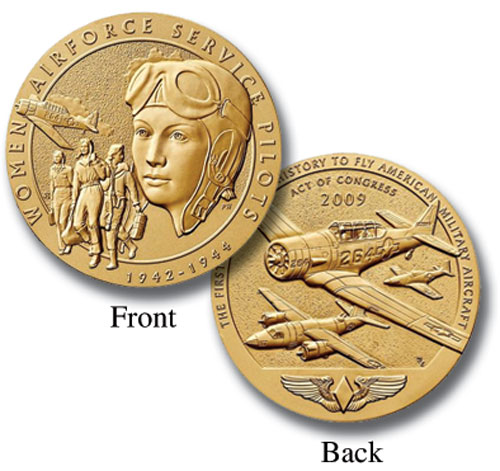"World War II Womens Airforce Service Pilots (WASP), 1.5"" Bronze Medal"