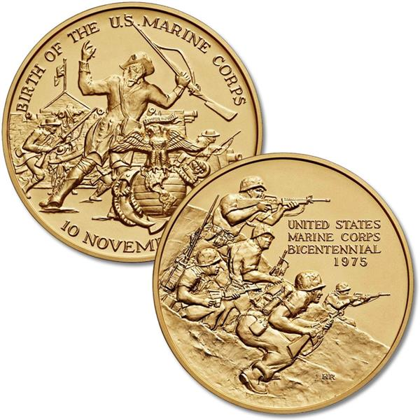Marine Corps Bicent. 3' Bronze Medal