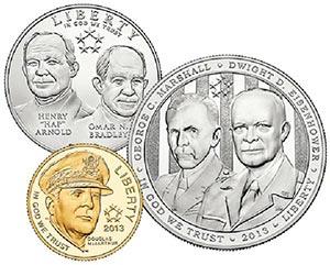 2013 5 Star Generals, 3 Coin Proof Set