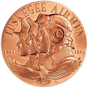 World War II Tuskegee Airmen, 1.5' Bronze Medal