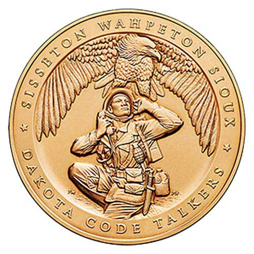 "World War II Sisseton Wahpeton Oyate (Sioux) Tribe, Code Talkers 1.5"" Bronze Medal"