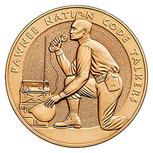 "Pawnee Nation Code Talkers 1.5"" Bronze Medal"