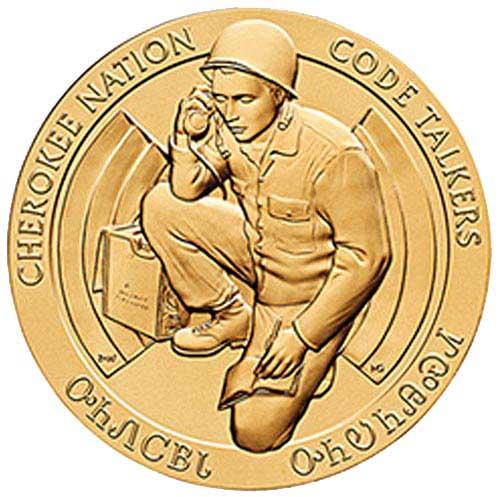 Cherokee Nation Code Talkers 1.5' Bronze