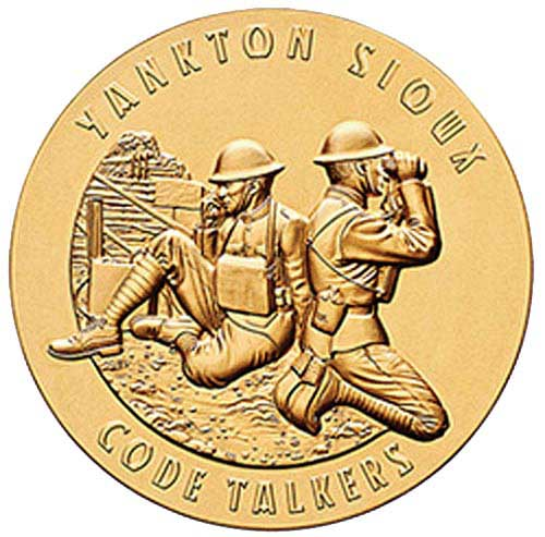 World War I Yankton Sioux Tribe Code Talkers 1.5' Bronze Medal