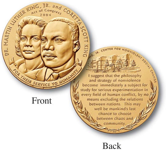 "Dr. Martin Luther King 1.5"" Bronze Medal"
