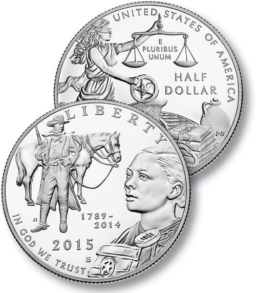2015 U.S. Marshal Service 225th Ann. Proof Clad 1/2 Dollar
