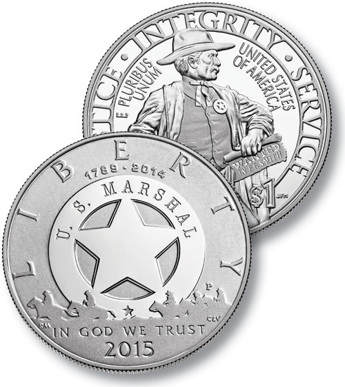 2015 U.S. Marshals Service 225th Ann. Proof Silver Dollar
