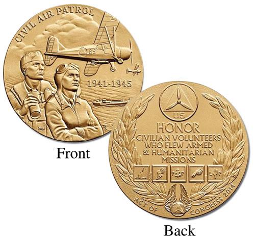 """Civil Air Patrol 1.5"""" Bronze Medal"""