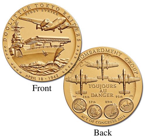 """Doolittle Tokyo Raiders 1.5"""" Bronze Medal"""