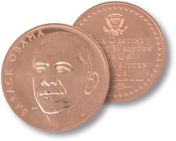 """Barack Obama 1.5"""" Bronze Medal"""
