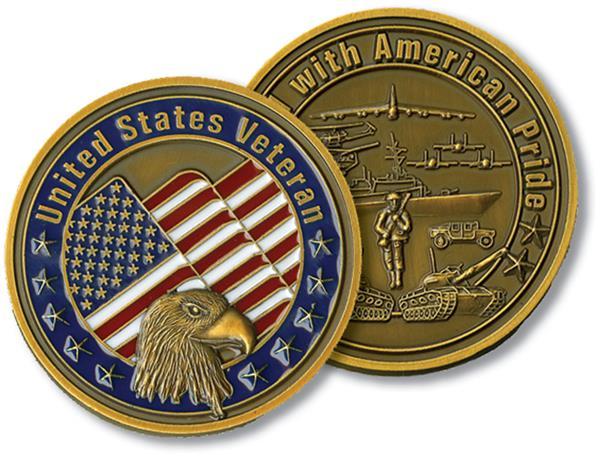 United States Veteran Challenge Coin